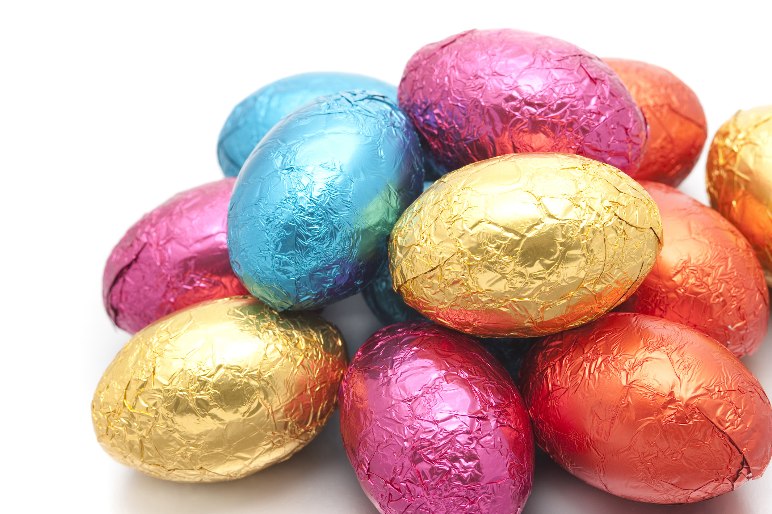 Colourful Foil Easter Egg Pile Creative Commons Stock Image