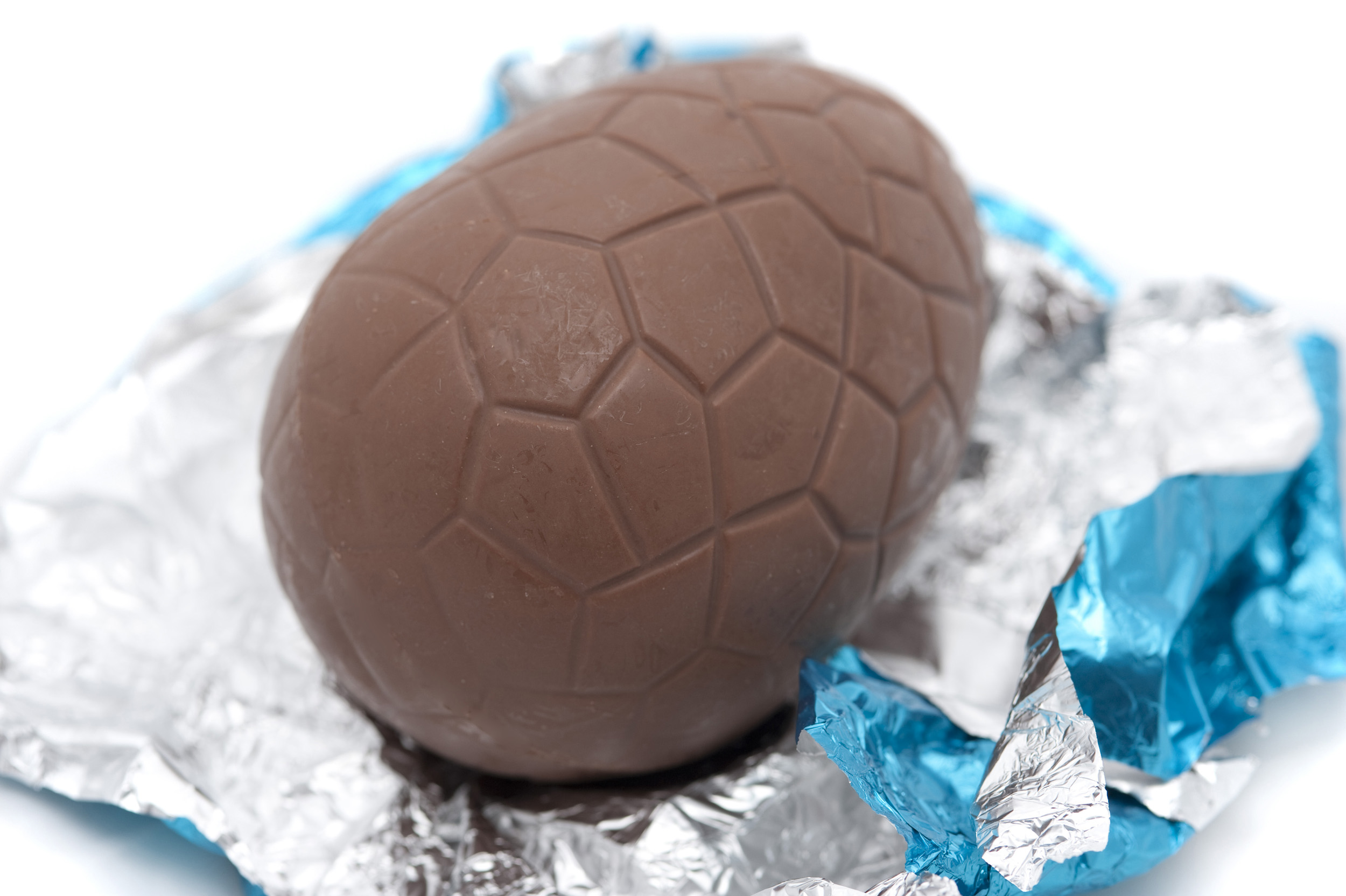 Unwrapped Chocolate Easter Egg Creative Commons Stock Image